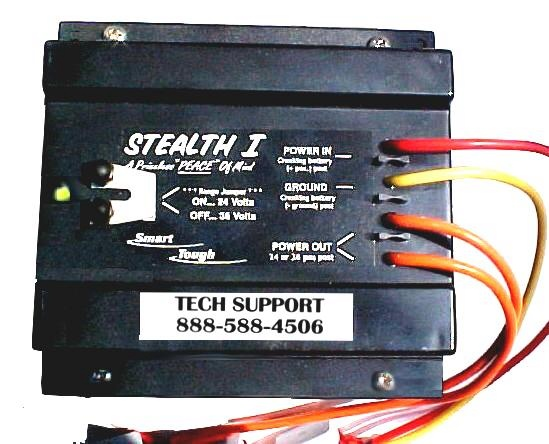 stealth 1 dc on the run charging the stealth 1 dc is 6 5 6 25 1 875 w l h weight is slightly over 3 5lb led indication of operation the stealth 1 dc has a three color wiring